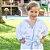 Roupão Infantil Atoalhado Papi Azul Raposa - Imagem 2
