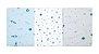 Cueiro Flanelado Com 3 Pçs Espaço 80cm X 50cm Papi - Imagem 3