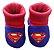 Pantufa Meia Bebê Moletom Superman - Imagem 1
