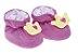 Pantufa Bebê Divertida Rosa Coroa Pimpolho - Imagem 1