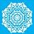 Stencil 30,5cm x 30,5cm Mandala II Camada I (OPA2297) - Imagem 1