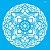 Stencil 30,5cm x 30,5cm Mandala Flor Redonda (OPA2472) - Imagem 1