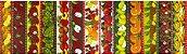 Tecido para Patchwork Frutaria Faixas (0,50m x 1,50m) - Imagem 1