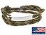 Pulseira de corda masculina camuflada com placa de aço inox - Imagem 1
