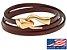 Pulseira de couro masculina marrom com fecho modelo cobra dourado - Imagem 1