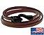 Pulseira de couro masculina marrom com fecho modelo cobra preto - Imagem 1