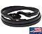 Pulseira de Couro masculina preta com fecho modelo cobra preto - Imagem 1
