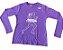 Camiseta Mania de Corrida Roxa Manga Longa em Poliamida - Imagem 1