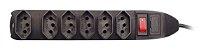 Filtro De Linha Com 6 Tomadas - Preto - Maxprint - Imagem 2