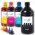 Kit 4 Tintas Para HP Ink Tank 412 Black 1 Litro 500ml coloridas Inova Ink - Imagem 1
