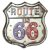 Placa decorativa com led - Route US 66 - Imagem 1