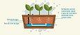 Horta Vertical 55x55cm + 1 Vaso de plantio direto - COM tela - Imagem 2