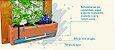Horta Vertical 55x55cm + 1 Vaso de plantio direto - COM tela - Imagem 4