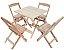 Conjunto 4 Cadeiras e 1 Mesa de Madeira Dobrável 70 x 70 - Sem Pintura - Imagem 1