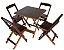 Conjunto 4 Cadeiras e 1 Mesa de Madeira Dobrável 70 x 70 - Com Pintura Café - Imagem 1