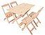 Conjunto 4 Cadeiras e 1 Mesa de Madeira Dobrável 120 x 70 - Sem Pintura - Imagem 1