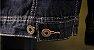Jaqueta Jeans Masculina Preta Forrada - Imagem 5