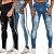 Kit com 3 Calças Jeans Masculina Premium Skinny - Imagem 1