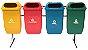 Conjunto para Coleta Seletiva com 4 cestos de 50 litros - Imagem 1