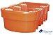 Bacia de Contenção para IBC - 1000 Litros - Laranja - Imagem 3