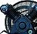 Compressor de Baixa Pressão sobre Base CJ5.2 BPV 5,2 Pés 120PSI 1HP 110/220V Mono - CHIAPERINI - Imagem 2