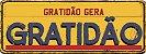 Placa Retrô - Gratidão gera Gratidão  - Imagem 1