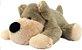 Cachorro Pelúcia Duque M 65cm - CORES DIVERSAS - Imagem 2