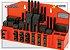 Jogo de presilhas dispositivo de fixação (Kit) c/ 58 pçs p/ mesa canal de 18mm p/fuso M16 com tratamento Mod:GR-16 - Imagem 1