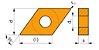 INSERTO ISO TORNEAMENTO DNMG 110408E-FM:T9325 DORMER PRAMET - CAIXA COM 10 PEÇAS - Imagem 2