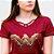 Camiseta Feminina Wonder Woman Logo Gold - Imagem 2