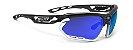 Óculos Ciclismo Rudy Project Fotonyk Cinza Branco Azul - Imagem 1