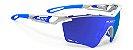 Óculos Rudy Project Tralyx XL Branco Azul Lente Espelhada - Imagem 1