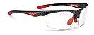 Óculos Rudy Project Stratofly Fotocromático Carbon Vermelho - Imagem 1