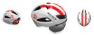 Capacete Rudy Project Boost 01 Branco Vermelho Fluor - Imagem 2