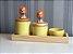 kit de higiene amarelo leão com bandeja - Imagem 1