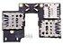 FLEX LEITOR MATRIZ SLOT CONECTOR DE CHIP SIM CARD MOTOROLA XT1540 XT1543 XT1544 MOTO G3 ORIGINAL - Imagem 1