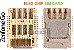 FLEX CONECTOR SLOT DE CHIP MATRIZ SIM CARD ASUS ZC500TG ZC500 ZENFONE GO ORIGINAL - Imagem 1