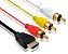 CABO PARA AUDIO E VIDEO HDMI X 3RCA 1,5M - Imagem 2