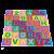 Tapete alfanumerico - EVA - 36 pc - Emb. c/ ziper - Imagem 1