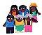 Dedoche familia negra - Feltro - 6 pers. - Emb. plast. - Imagem 3