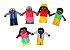 Dedoche familia negra - Feltro - 6 pers. - Emb. plast. - Imagem 4