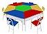 Mesas angulares com 1 cadeira de FERRO - Amarela - Cx papelão - Imagem 3