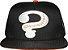Boné preto / laranja aba reta com bordado Charada - Imagem 3