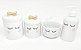 Kit Higiene Bebê Porcelana | Olhinhos Cílios Laço Dourado |4 peças - Imagem 1