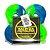 Roda Narina Skate Rajada Verde/Azul - 54mm - Imagem 1
