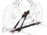Rack Transbike De Teto Eqmax Velox Preto Suporte Para 1 Bike - Imagem 4