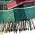 Echarpe estampado verde/preto/rosa com franja - Imagem 2