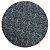 Capa De  Sousplat Dupla Face Preto c/rabisco Branco / Listrado Vermelho e Branco 35 cm diâmetro - Imagem 1