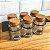 Porta tempero Metal com 06 Potes de Vidro tampa de Rolhas - Imagem 4