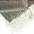 Pashmina Quadriculado Cinza c/ Cru (0,70 x 1,92) - Imagem 3